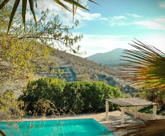Boutique Hotel Residencia Fundador Pool mit Weitblick in die wunderbare Landschaft